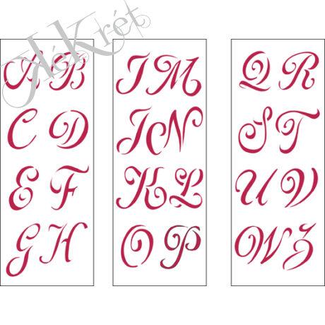 Stencil B méret 38x15 cm - Capital alphabet compet 3 darabos