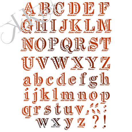 Stencil G méret 21x29,7 cm -ABC krétával