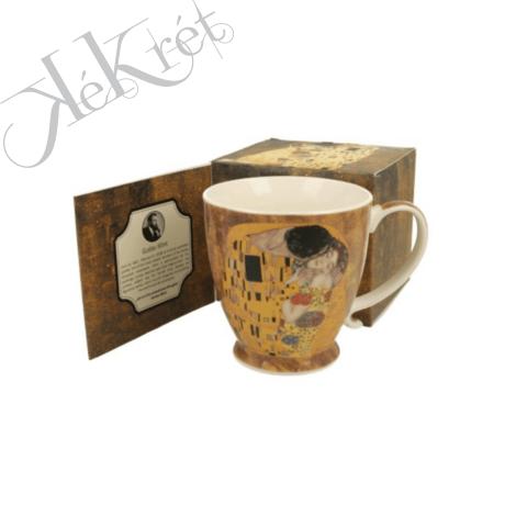 Porcelánbögre 450ml, dobozban, Klimt: The Kiss