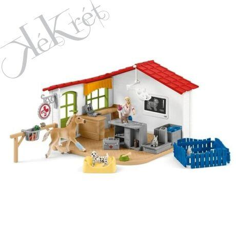 Állatorvosi rendelő háziállatokkal, Schleich