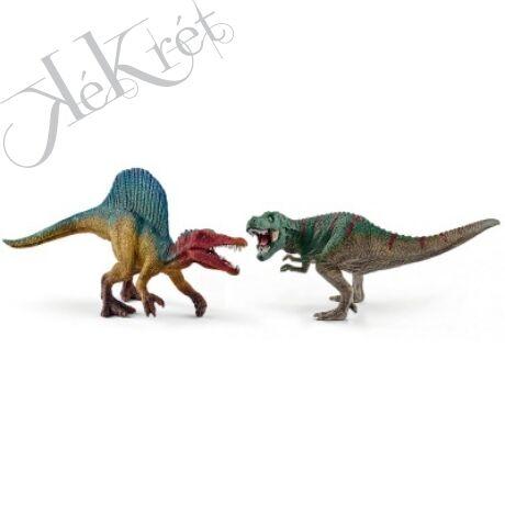 SPINOSAURUAS és T-REX, kicsi Schleich
