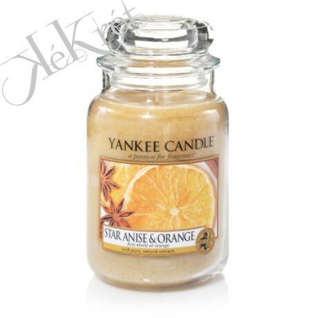 STAR ANISE & ORANGE nagy üveggyertya, Yankee Candle