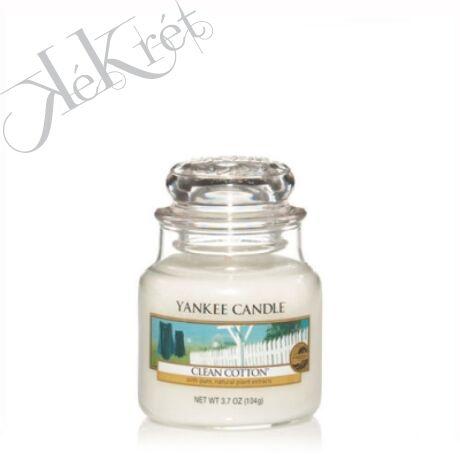CLEAN COTTON kis üveggyertya, Yankee Candle