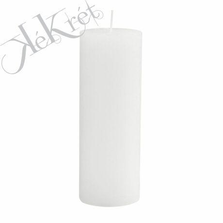 Paraffin gyertya 7x18cm, fehér