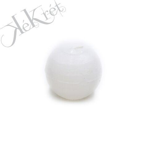 GOLYÓ GYERTYA paraffin, 8cm, fehér
