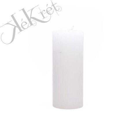 HENGER GYERTYA paraffin, 5x12cm, fehér