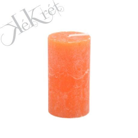 HENGER GYERTYA paraffin, 5x9cm, narancs