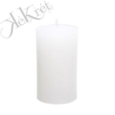 HENGER GYERTYA paraffin, 7x12cm, fehér