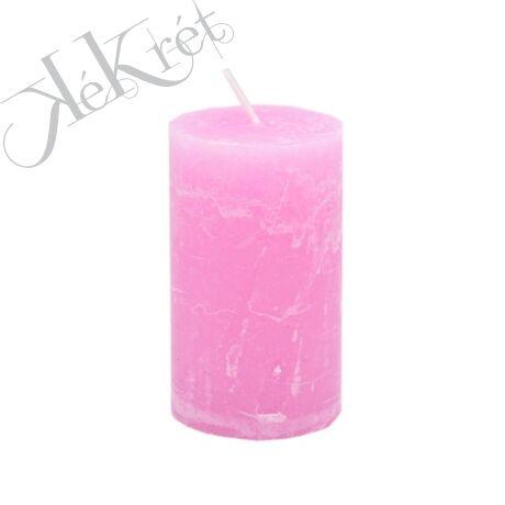 HENGER GYERTYA paraffin, 7x12cm, rózsaszín