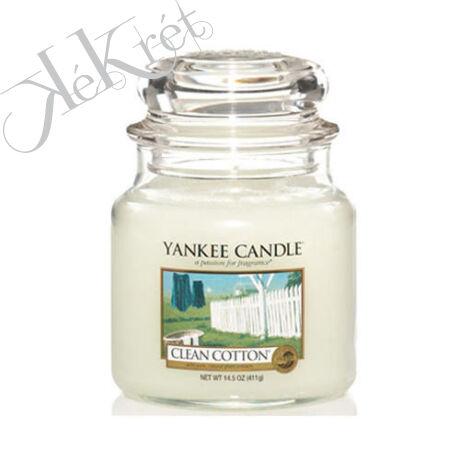 CLEAN COTTON közepes üveggyertya, Yankee Candle