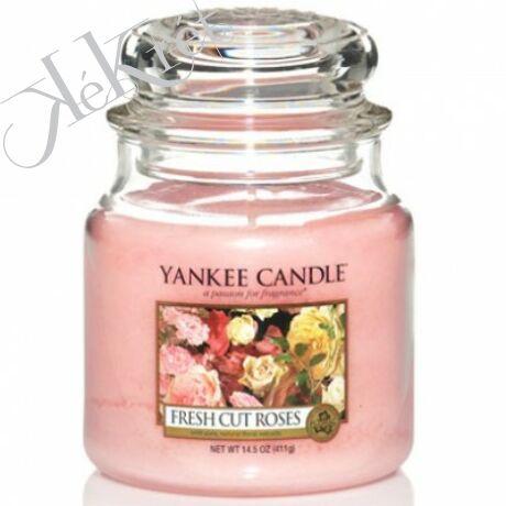 FRESH CUT ROSES közepes üveggyertya, Yankee Candle
