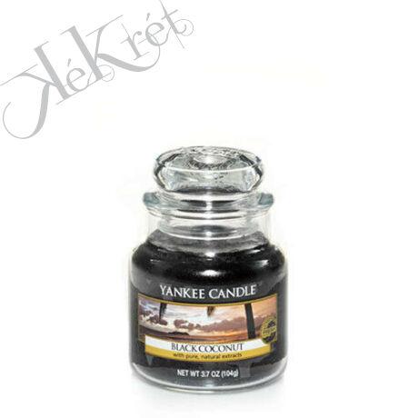 BLACK COCONUT kis üveggyertya Yankee Candle