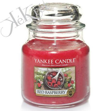 RED RASPBERRY közepes üveggyertya, Yankee Candle