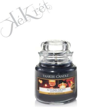 AUTUMN NIGHT kis üveggyertya, Yankee Candle
