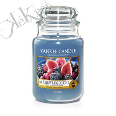 Mulberry & Fig Delight nagy üveggyertya, Yankee Candle