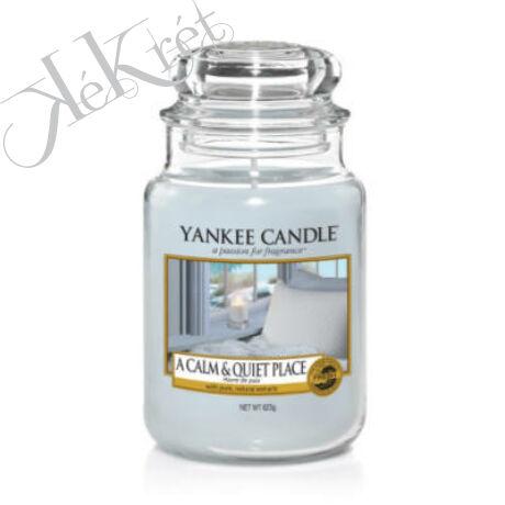 A CALM & QUIET PLACE NAGY ÜVEGGYERTYA, Yankee Candle