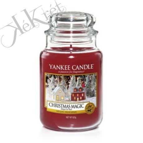 CHRISTMAS MAGIC NAGY ÜVEGGYERTYA, Yankee Candle