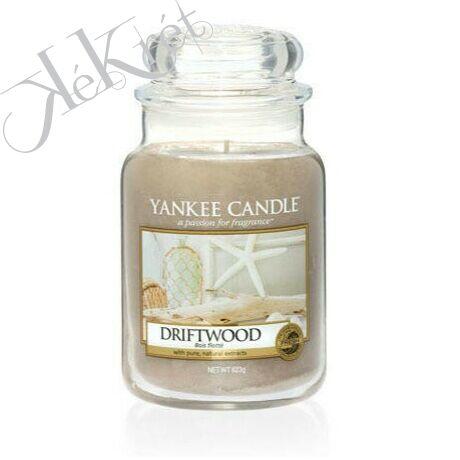 DRIFTWOOD nagy üveggyertya, Yankee Candle