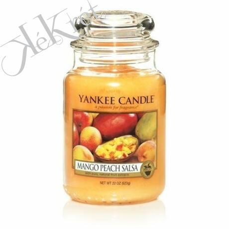 MANGO PEACH SALSA  nagy üveggyertya, Yankee Candle