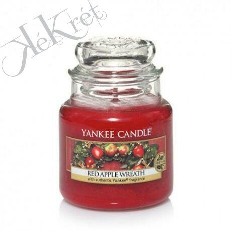 RED APPLE WREATH közepes üveggyertya, Yankee Candle