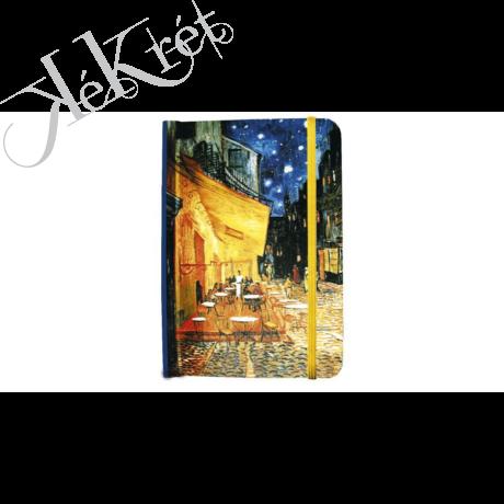 Jegyzetfüzet 9,5x13,5x1,4cm, Van Gogh:Kávéház éjjel