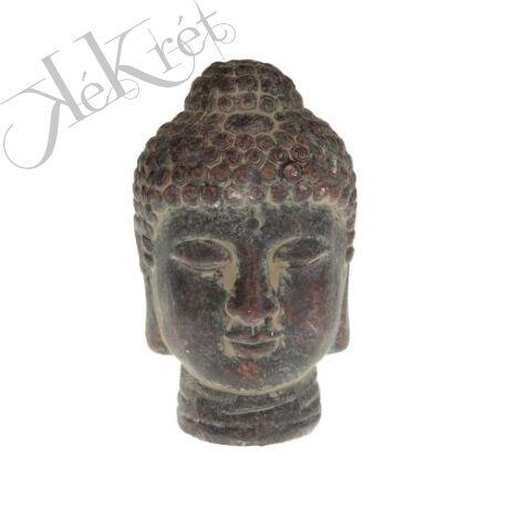 Kerámia buddha fej, 8x13cm