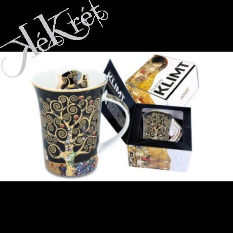 Porcelánbögre Klimt dobozban 350ml, Klimt:Életfa
