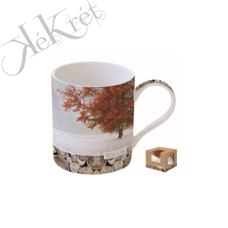 Porcelánbögre dobozban 350ml,Wild Life-Maple Tree