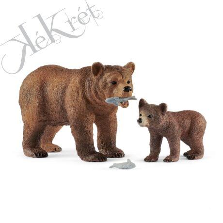 Grizzly medve anya és bocs, Schleich