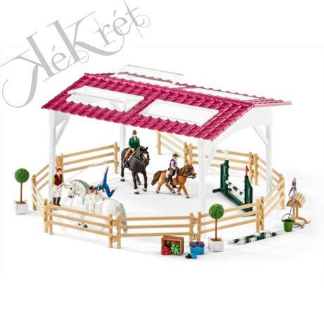 Lovaglóiskola lovas lányokkal és lovakkal, Schleich Horse Club