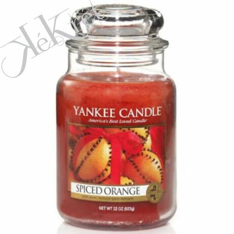 SPICED ORANGE nagy üveggyertya, Yankee Candle