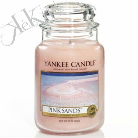 PINK SANDS nagy üveggyertya Yankee Candle