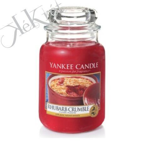 RHUBARB CRUMBLE nagy üveggyertya, Yankee Candle