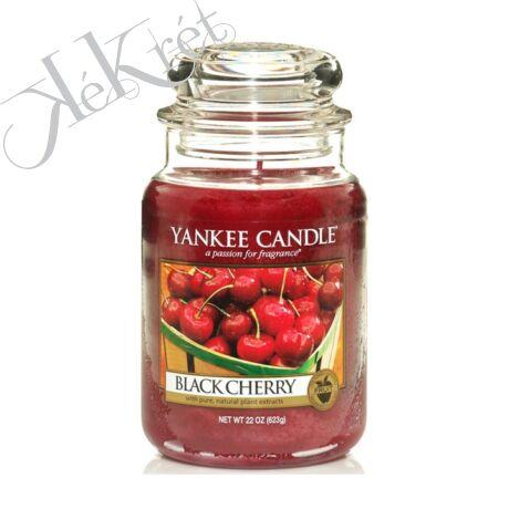 BLACK CHERRY nagy üveggyertya, Yankee Candle