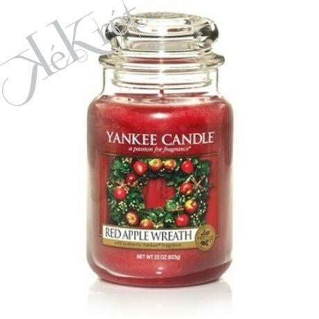 RED APPLE WREATH nagy üveggyertya, Yankee Candle