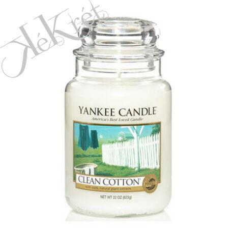 CLEAN COTTON nagy üveggyertya, Yankee Candle