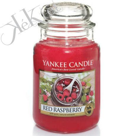 RED RASPBERRY nagy üveggyertya, Yankee Candle