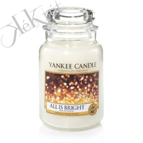 ALL IS BRIGHT nagy üveggyertya, Yankee Candle