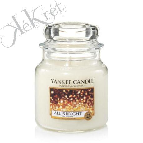 ALL IS BRIGHT közepes üveggyertya, Yankee Candle