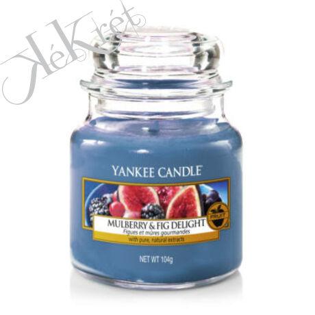 Mulberry & Fig Delight kis üveggyertya, Yankee Candle