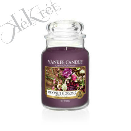 MOONLIT BLOSSOM nagy üveggyertya, Yankee Candle