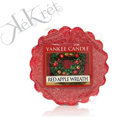 RED APPLE WREATH TARTS mini viasz, Yankee Candle