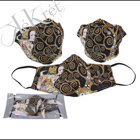Textilmaszk 18,5x13,5cm, polyester, Klimt:Várakozás