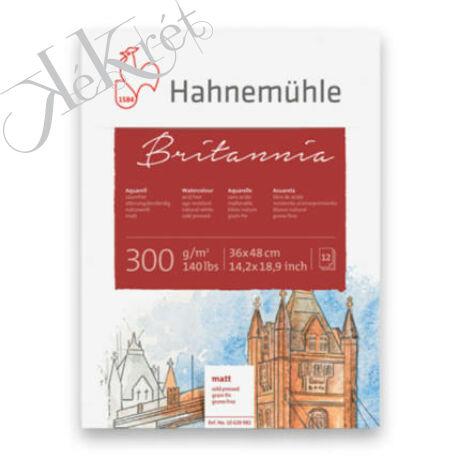 Hahnemühle Britannia akvarelltömb, 300 g, 12 lap, enyhén érdes, 36x48 cm