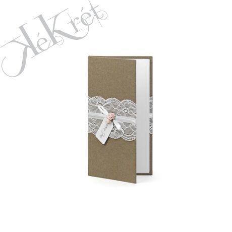 Pénztartó papír 11x20cm natúr